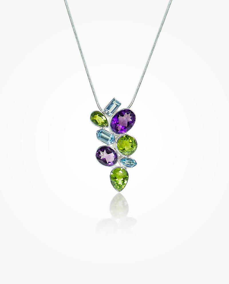 Multi color gem stone pendant huongs jewellery multi color gem stone pendant aloadofball Choice Image