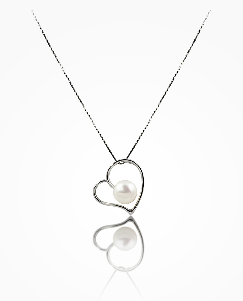 Freshwater pearl heart pendant valentine collection freshwater pearl heart pendant aloadofball Image collections
