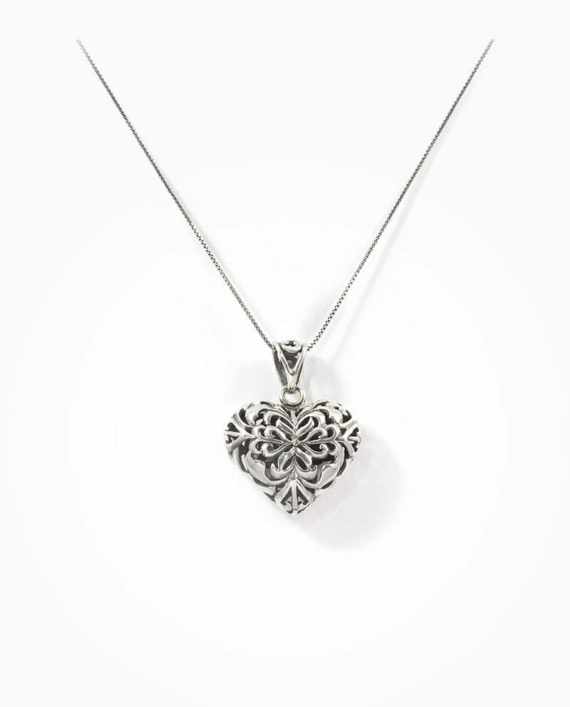 Silver filigree heart pendant valentine collection silver filigree heart pendant mozeypictures Image collections