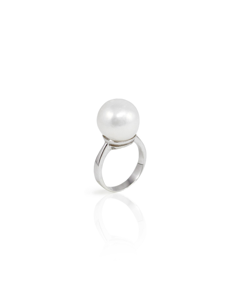 Simple Freshwater Cultured Pearl Ring Huongs Jewellery